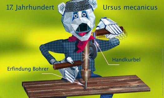 Tiefbohrbär – Handkurbel